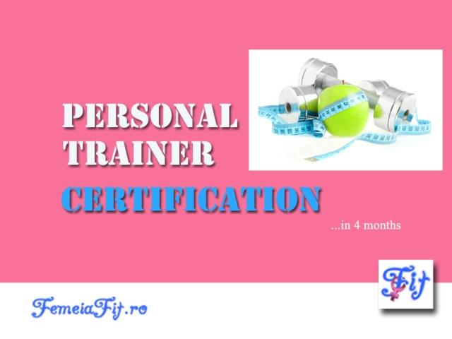 Certificare PT Femeia Fit
