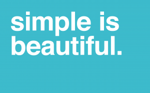 Simplu e mai bine