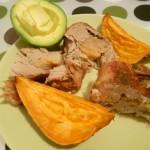 Muschi Umplut cu Pere, Cartof Dulce si Avocado