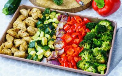 mese pentru slabit - pui cu legume
