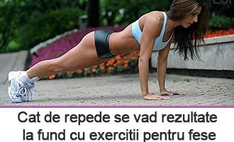 Rezultate cu exercitii pentru fese